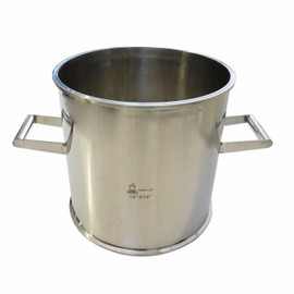 "STAINLESS STEEL 12"" X 12"" TRI CLAMP SANITARY SPOOL WITH HANDLES"