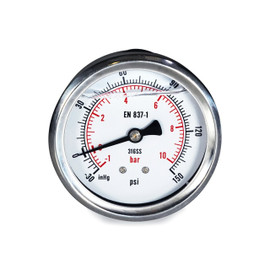 "USA Lab Glycerin Compound Gauge- Various Options- 1/4"",COMP,NPT"