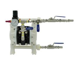 ARO Diaphragm Fluid Transfer Pump, Kynar(R), Air Operated, PTFE, 10.6 GPM