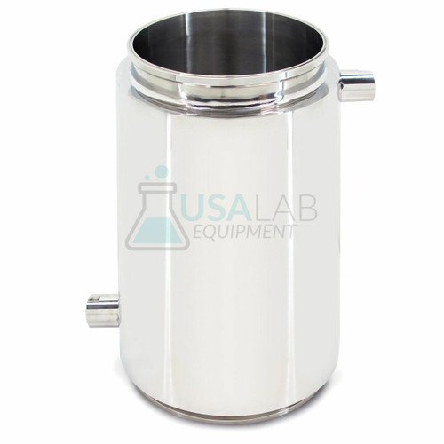 """Jacketed Material Column Spool - 6"""" x 12"""" Tri Clamp w/ (2) 1/2"""" FNPT - SS304"""