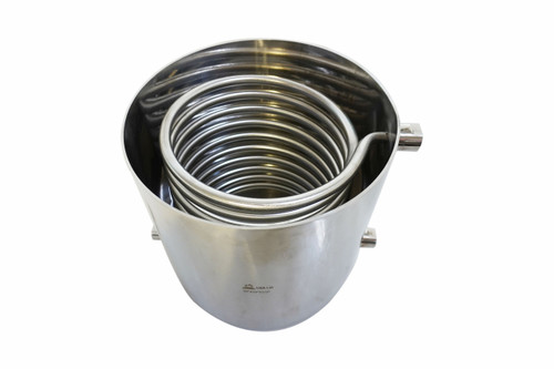 """Stainless Steel 10"""" Condensing Coil Bucket w/ 1/2"""" FNPT - SS304"""