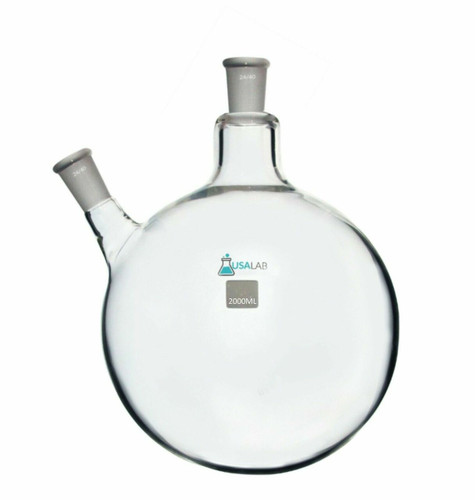 2L Round Bottom Receiving Flask - 2 neck 24/40 2000ML