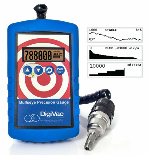 DigiVac Bullseye Precision Vacuum Gauge