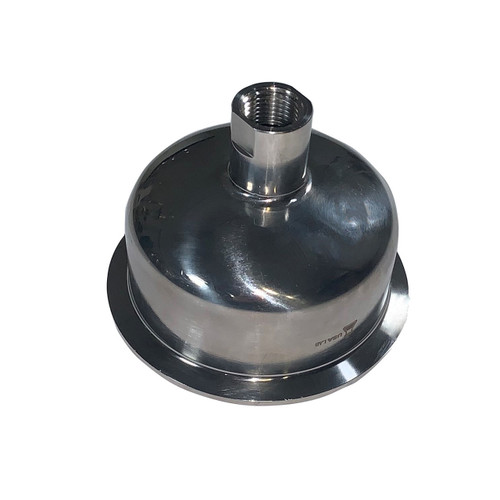 """Hemispherical Reducer - Tri Clamp 4"""" to 1/2"""" FNPT - SS304"""
