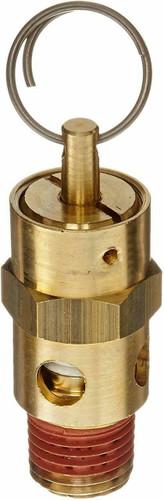 "ASME Safety Pressure Relief Valve - 100psi Set Pressure - 1/4"" MNPT"
