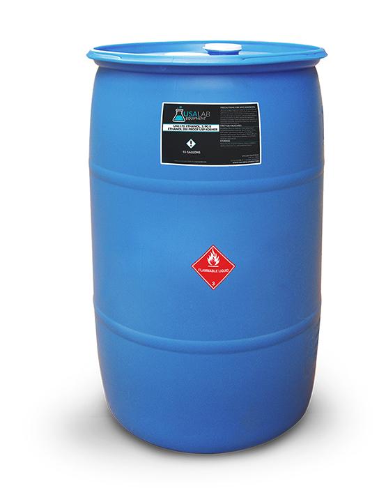 Details about USA Lab 200 Proof Ethanol USP Kosher - 55 Gallon Drum