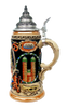 200th Anniversary Oktoberfest Beer Stein with Pewter Lid