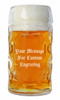 Custom Engraving Placement on 0.5L Dimpled Glass Oktoberfest Mug (personalized engraving adds $8.95 per item)