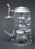 Authentic German Beer Stein with Fishing Lures