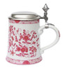 Pink Flowers Porcelain Beer Stein