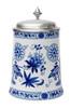 German Flowers Porcelain Beer Stein