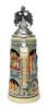 German Heritage Beer Stein with Pewter Eagle Lid