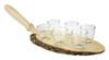 German Schnapps Wooden Platter