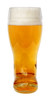 1 Liter Glass German Beer Boot, Front View