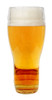Back of Glass German Drinking Boot, 1L, Full of Beer