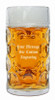 Custom Engraving Placement on One Liter Glass Beer Mug (personalized engraving adds $8.95 per item)