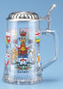 Authentic German Canada Provinces Glass Beer Stein with Lid