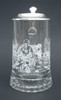 Authentic German Beer Glass with Hockey Engravings