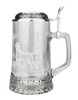 Etched Labrador Motif on .5L Glass Beer Stein