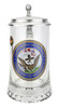 Authentic German Beer Stein with US Navy Seal