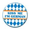 Kiss Me Im German Party Button