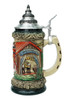 Oktoberfest Ceramic Beer Stein with Lid
