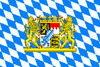 Bavaria Lion Crest and Diamond Pattern Flag 3' x 5'