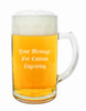 Glass Beer Mug with Custom Engraving Option