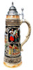 Oktoberfest Ceramic Beer Stein with Handpainted Artwork