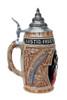 Handmade Cobalt Blue Ceramic Beer Mug for Sale