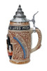 Traditional German Handmade Beer Stein with Lid