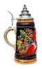 Authentic Cobalt Ceramic Beer Stein Christmas Gift