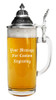 Personalized Traditional German Glass Beer Stein