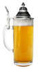 Traditional Glass German Beer Stein with Pointed Lid