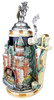 Neuschwanstein and King Ludwig Castle 3D Beer Stein with Lion Lid