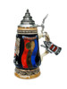 Limited Edition Hand Painted Romanian Beer Stein with 24K Gold Accents