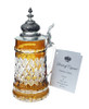 Lord of Crystal Beer Stein Amber