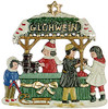 Collectible Painted German Pewter Xmas Ornament