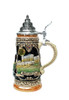 Beer Stein Depicts Bran Castle with Vlad the Impaler or Dracula with Pewter Lid