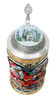 Christmas Beer Stein with Ornate Crystal Lid