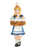 Fraeulein Beer Maiden Authentic Polish Glass Xmas Ornament