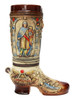 2 Liter Ceramic German Beer Boot  with Bavarian Crests