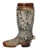 German Ceramic Beer Boot 1 Liter Rustic