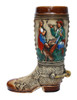1 LIter Ceramic Beer Boot with Hand-Painted German Scenes