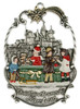 Traditional Painted German Pewter Christmas Ornament