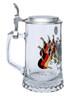 Authentic Personalized Glass Beer Stein with Deutschland Crest