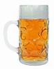 Deutschland Crest Dimpled Oktoberfest Glass Beer Mug 1 Liter