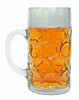 Side View of 1 Liter German Heidelberg German Mug with Beer