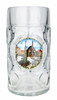 Personalized 1 Liter Beer Mug with Traditional Nurnberg Motif