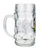 Traditional German Glass Beer Mug with Handle